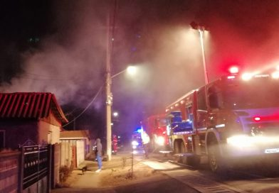 Incendiu puternic la o locuință din Plosca!Câinele a fost cel care a avertizat familia de pericol